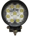 LED Arbeidslys, rund, 27 Watt LED 1060 Volt 60gr.